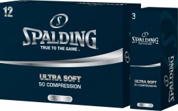 Spalding Tour 50 Compression Golfbälle, white
