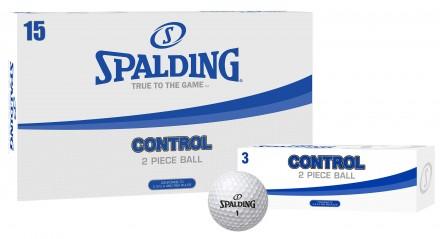 Spalding Control Golfbälle, white