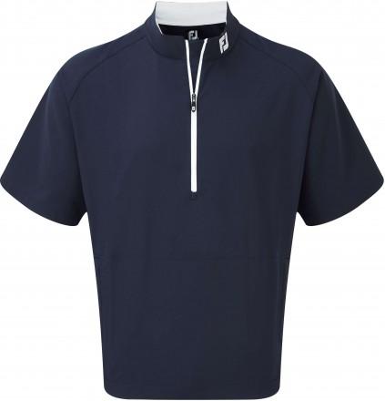 FootJoy Performance Half-Zip Short Sleeve Windshirt, navy/white