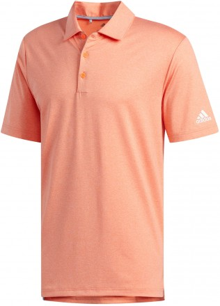Adidas Ultimate 2.0 Novelty Heather Polo, coral