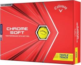 Callaway Chrome Soft Triple Track Technology Golfbälle, yellow