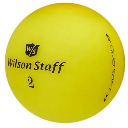 Wilson Staff DUO Soft Optix Golfbälle, yellow
