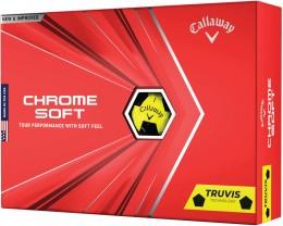 Callaway Chrome Soft TRUVIS Golfbälle, yellow/black