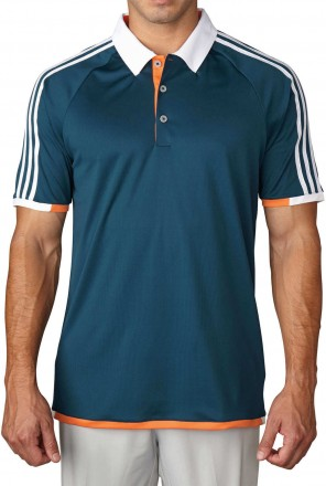 Adidas climacool climachill 3-Stripes Competition Polo, utility green/white