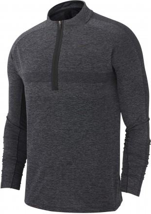 Nike DRY TOP HZ STMT Midlayer, black/grey