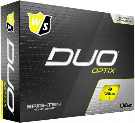 Wilson DUO Optix Golfbälle, yellow