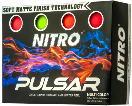 Nitro Pulsar Golfbälle, multicolor
