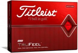 Titleist TruFeel Golfbälle, mat red