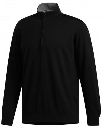 adiPure Refined Zip Sweater, black