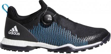 adidas Forgefiber BOA Golfschuh, black/white/cyan