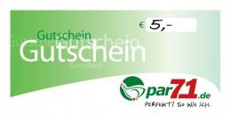 par71 Online-Gutschein über 5,- Euro