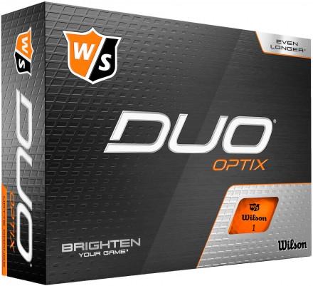 Wilson DUO Optix Golfbälle, orange