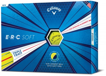 Callaway E.R.C Soft Golfbälle, yellow