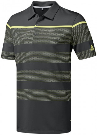 Adidas Ultimate365 Dash Stripe Polo, grey/yellow