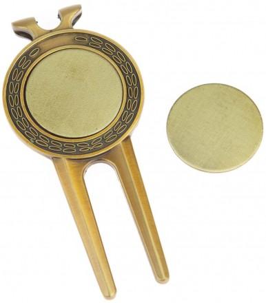 Legend Brass Pitchgabel mit 2 Ballmarkern