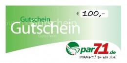 par71 Online-Gutschein über 100,- Euro