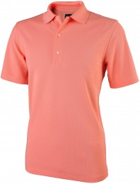 Greg Norman Performance Micro Pique Polo, coral sun