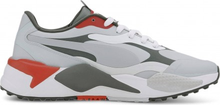 Puma RS-G Golfschuh, gray/thyme/pumkin