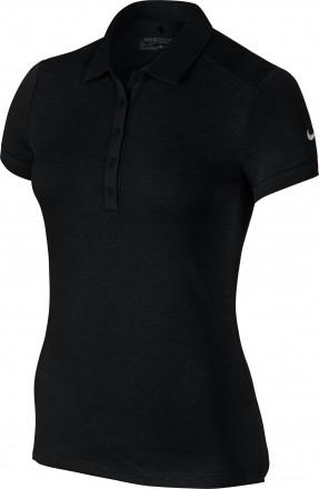 Nike Dry Polo SS HTHR, 010 black/white