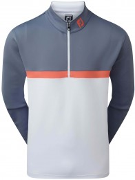 FootJoy Colour Blocked Chill-Out Pullover, slate/coral