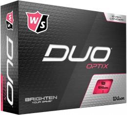 Wilson DUO Optix Golfbälle, pink