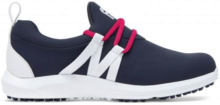 FootJoy FJ Leisure Slip-On Golfschuh, M, navy/white