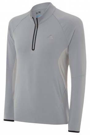 Adidas Pullover Engineered Motion 1/2 Zip, Mid Grey