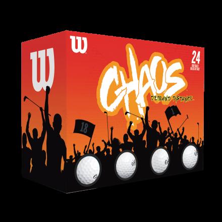 Wilson Chaos Golfbälle, white
