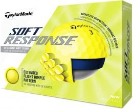 TaylorMade Soft Response Golfbälle, yellow