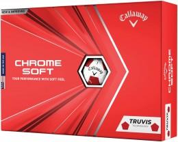 Callaway Chrome Soft TRUVIS Golfbälle, white