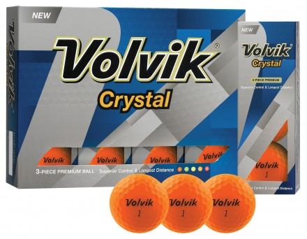 Volvik Crystal Golfbälle, orange