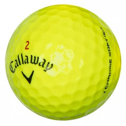 25 Callaway Chrome Soft X Lakeballs, yellow