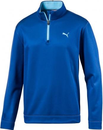 Puma Disruptive 1/4 Zip Fleece-Pullover, 03 lapis blue/energy turquoise